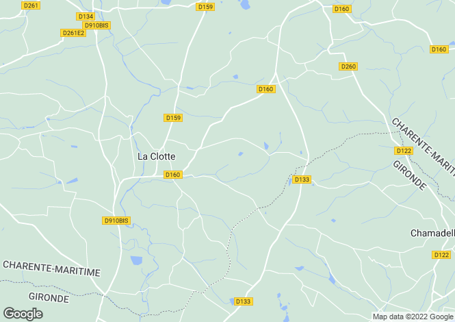 Map for La Barde, Charente-Maritime, Poitou-Charentes