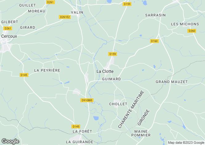 Map for la-clotte, Charente-Maritime, France