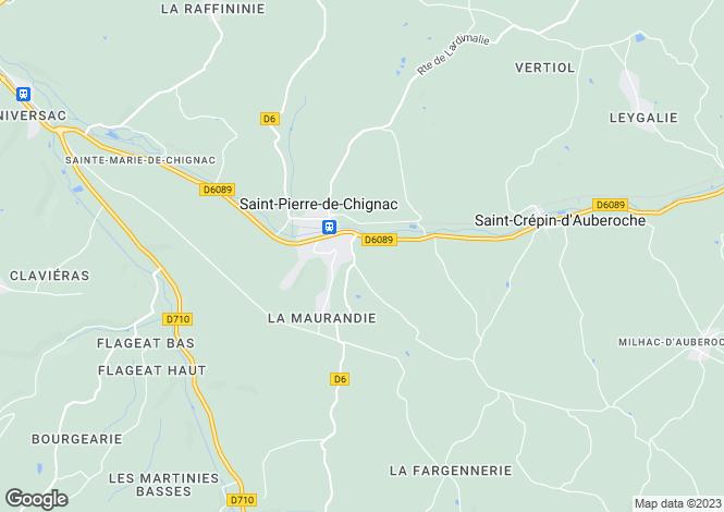 Map for st-pierre-de-chignac, Dordogne, France