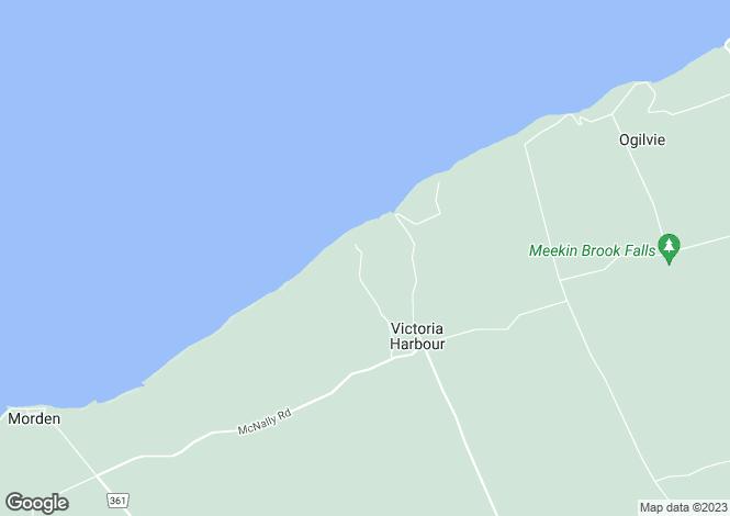 Map for Harbourville, Nova Scotia