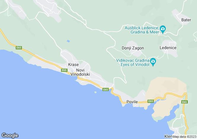 Map for Novi Vinodolski, Primorje-Gorski Kotar