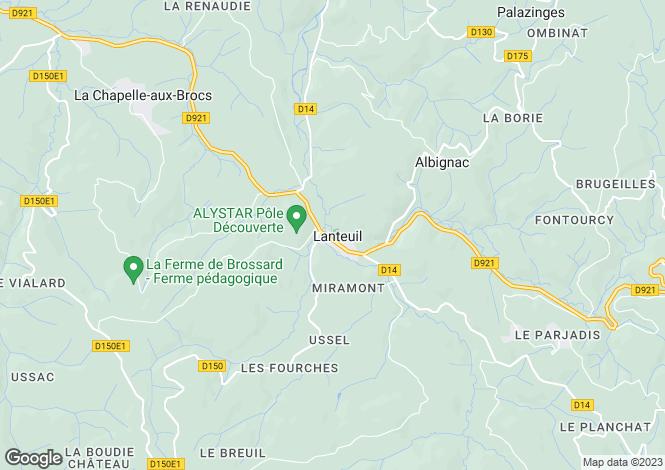 Map for lanteuil, Corrèze, France