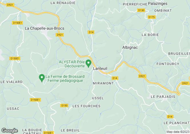 Map for Brive-la-Gaillarde, Corrèze, 19360, France