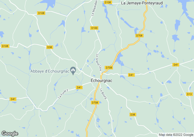 Map for echourgnac, Dordogne, France