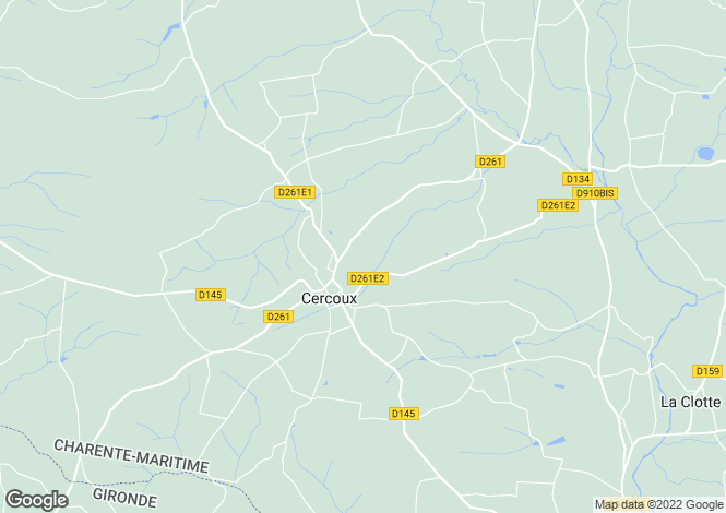 Map for cercoux, Charente-Maritime, France