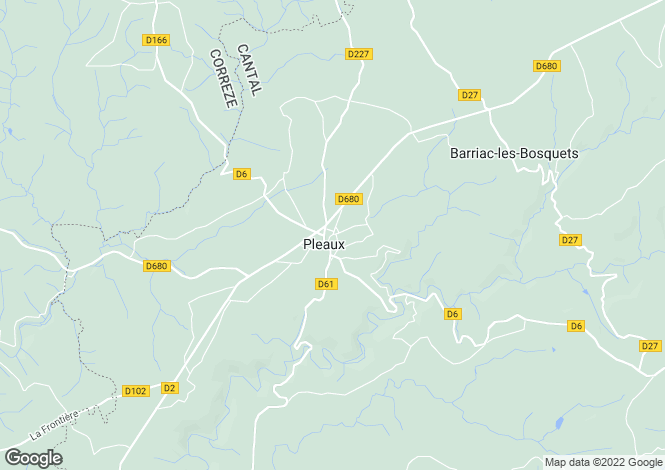 Map for Auvergne, Cantal, Pleaux