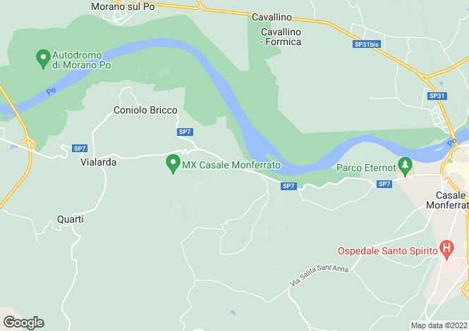 Map for Casale Monferrato, Alessandria, Piedmont