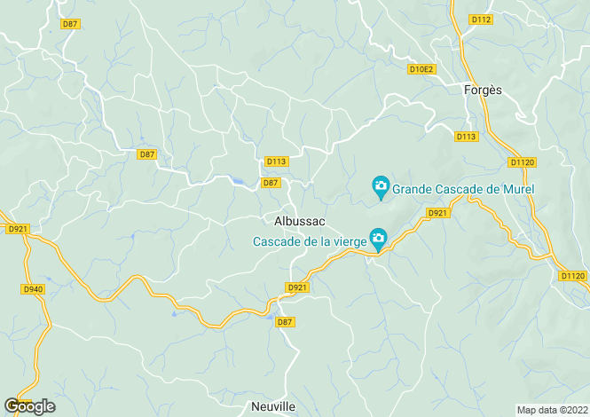 Map for ALBUSSAC, Limousin