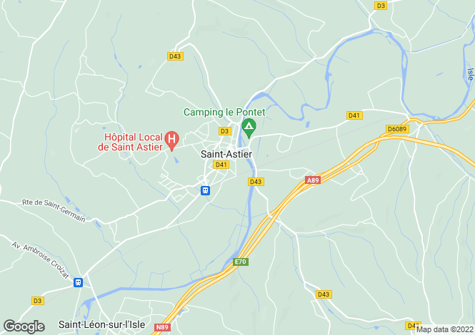 Map for st-astier, Dordogne, France