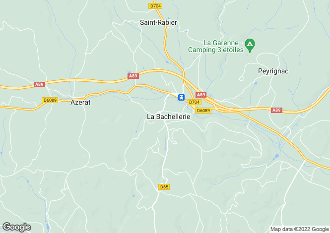 Map for la-bachellerie, Dordogne, France