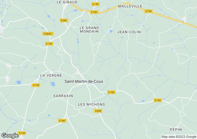 Map for st-martin-de-coux, Charente-Maritime, France