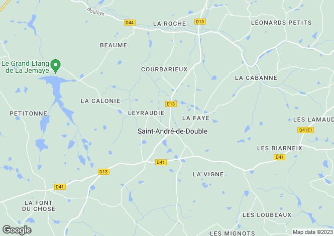 Map for Saint-André-De-Double ,Dordogne ,France