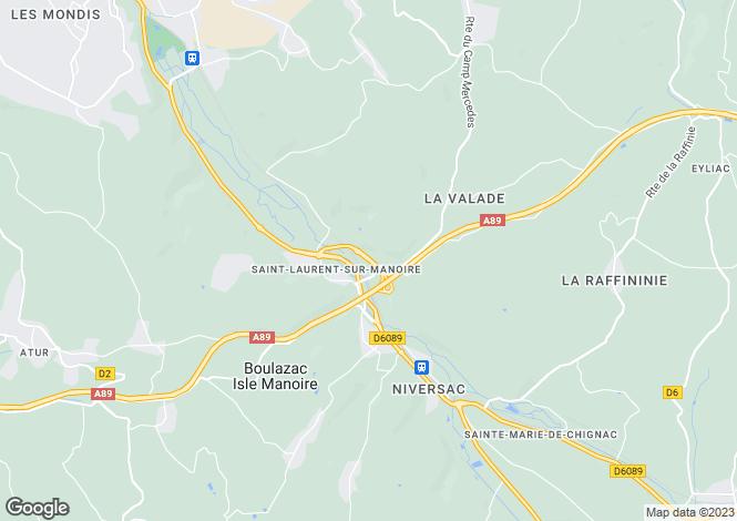 Map for st-laurent-sur-manoire, Dordogne, France