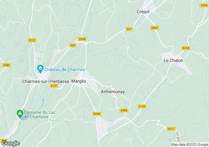 Map for marges, Drôme, France