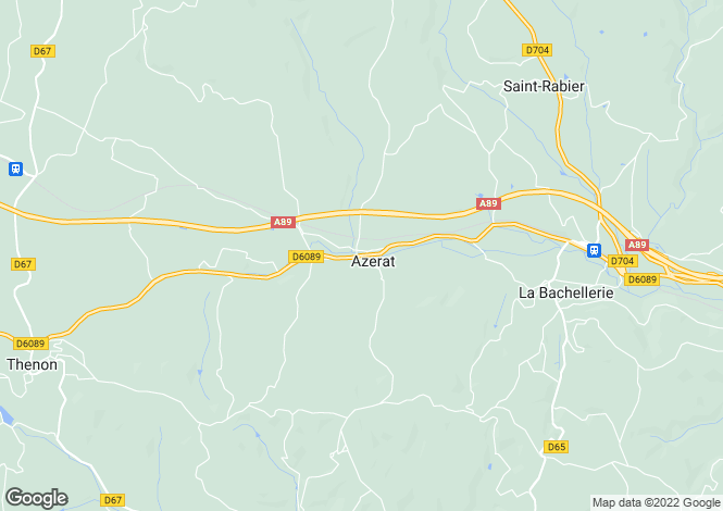 Map for azerat, Dordogne, France