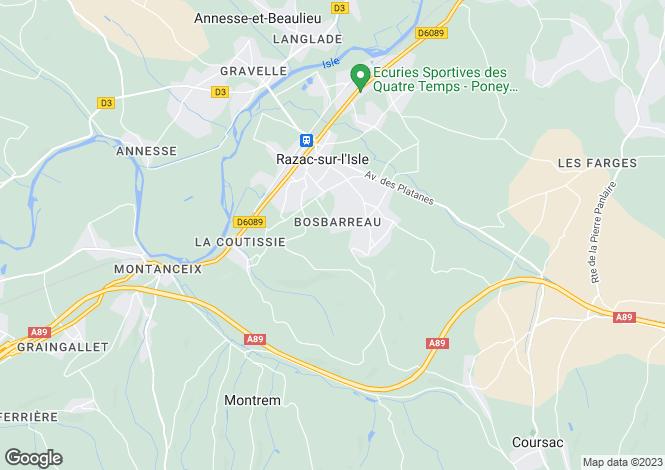 Map for St Paul de Blaye, Gironde