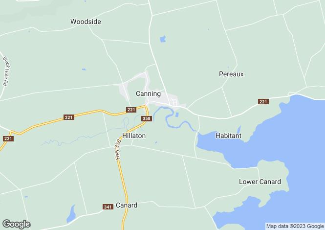 Map for Canning, Nova Scotia