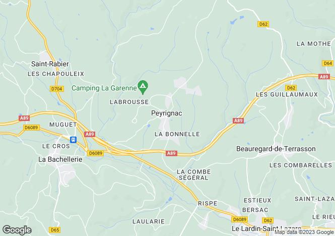 Map for peyrignac, Dordogne, France