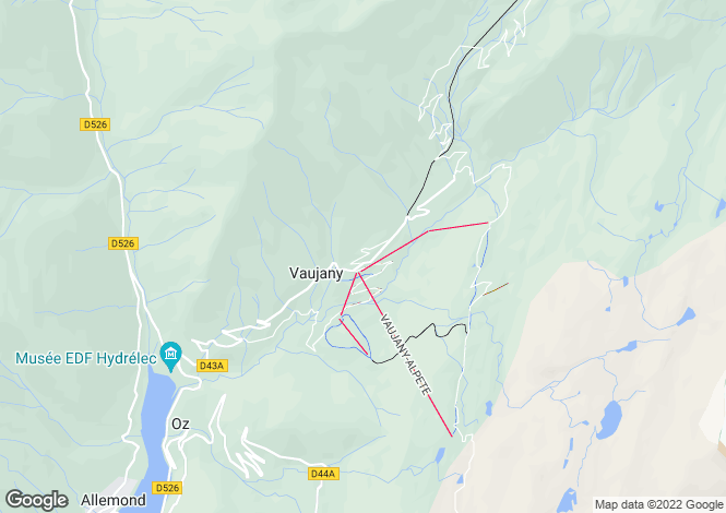 Map for vaujany, Isère, France