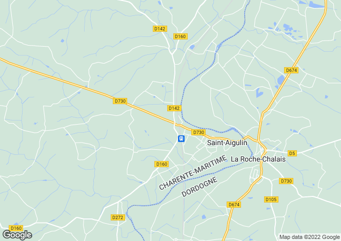 Map for st-aigulin, Charente-Maritime, France