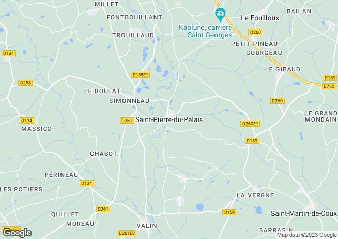 Map for Proche  / Near Saint-Pierre-du-Palais, Charente Maritime