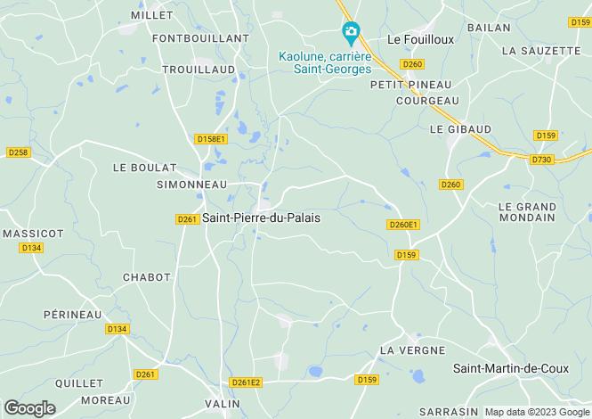 Map for st-pierre-du-palais, Charente-Maritime, France