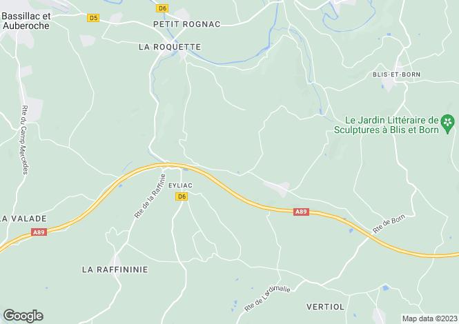 Map for Aquitaine, Dordogne, Eyliac