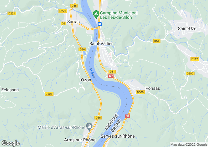 Map for ozon, Ardèche, France