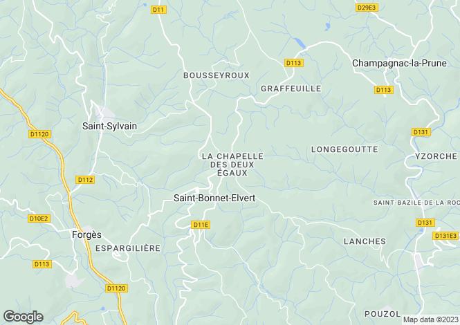 Map for st-bonnet-elvert, Corrèze, France