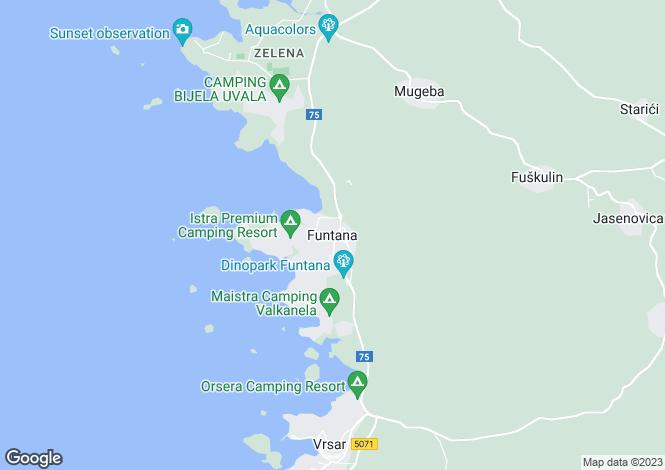 Map for Istra, Vrsar, Croatia