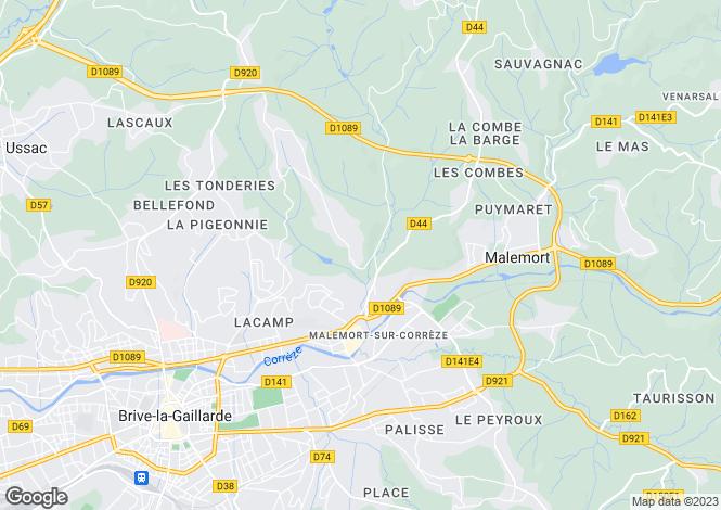 Map for MALEMORT SUR CORREZE, Dordogne Area, Nouvelle-Aquitaine,