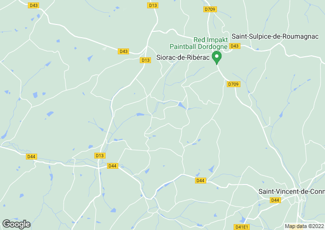 Map for siorac-de-riberac, Dordogne, France