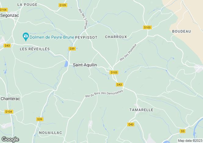 Map for st-aquilin, Dordogne, France