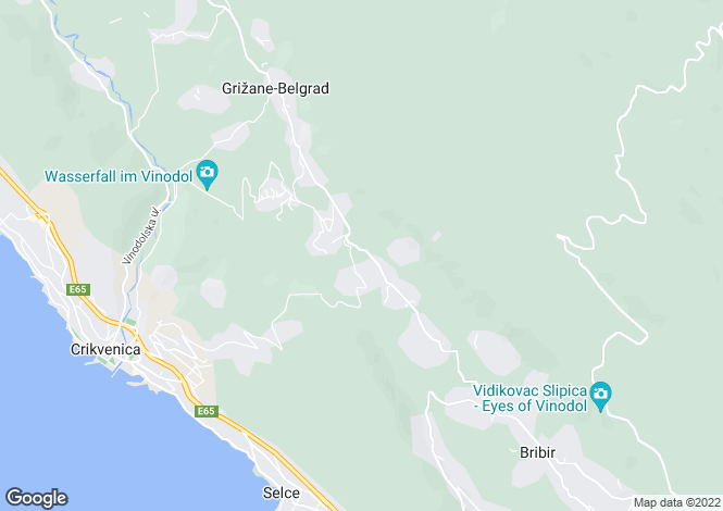 Map for Crikvenica, Primorje-Gorski Kotar