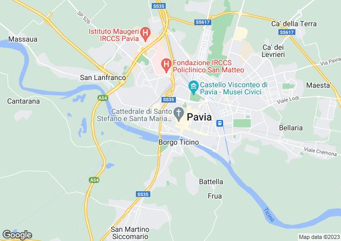 Map for Lombardy, Pavia, Pavia