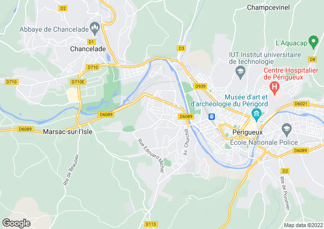 Map for coulounieix-chamiers, Dordogne, France