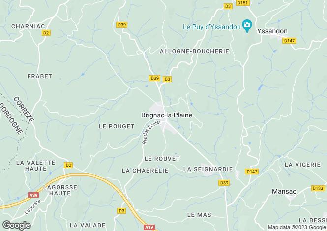 Map for Brignac-la-Plaine, 19310, France