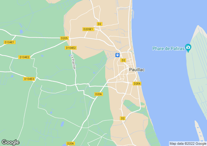Map for Aquitaine, Gironde, Pauillac