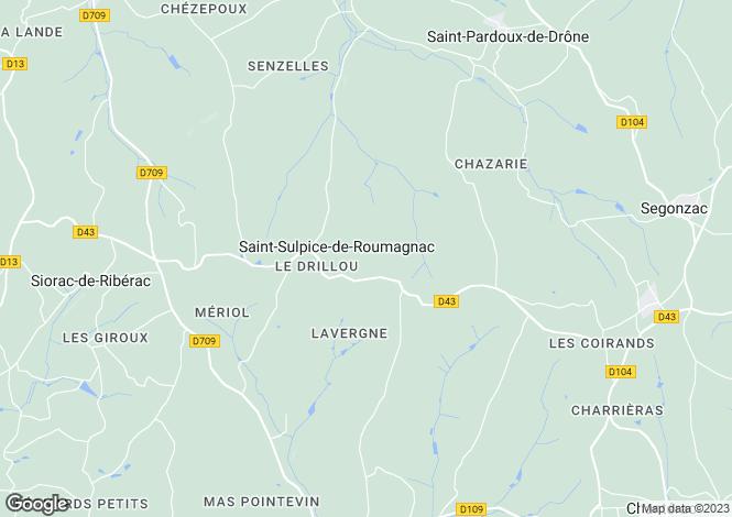 Map for st-sulpice-de-roumagnac, Dordogne, France