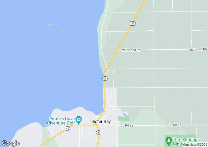 Map for Sister Bay, Door County, Wisconsin