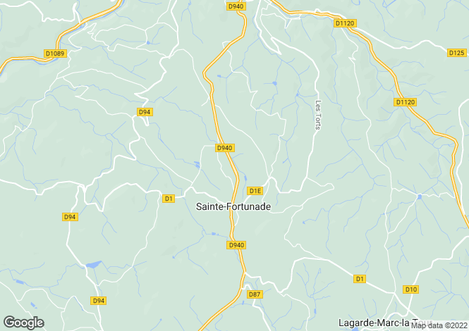 Map for Limousin, Corrèze, Ste-Fortunade
