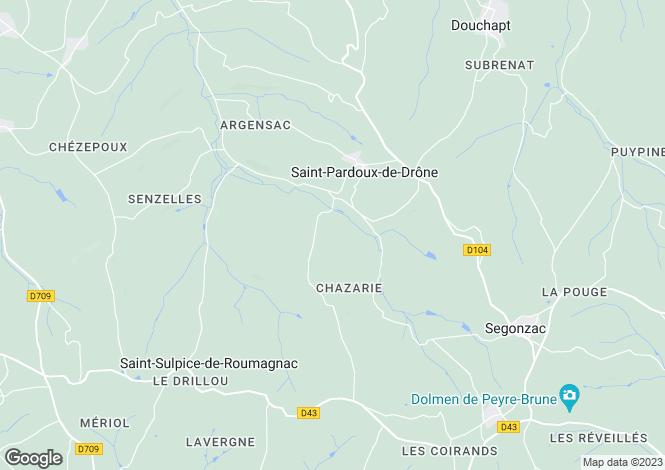 Map for riberac, Dordogne, France