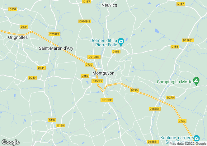 Map for Proche/Near Montguyon, Charente-Maritime