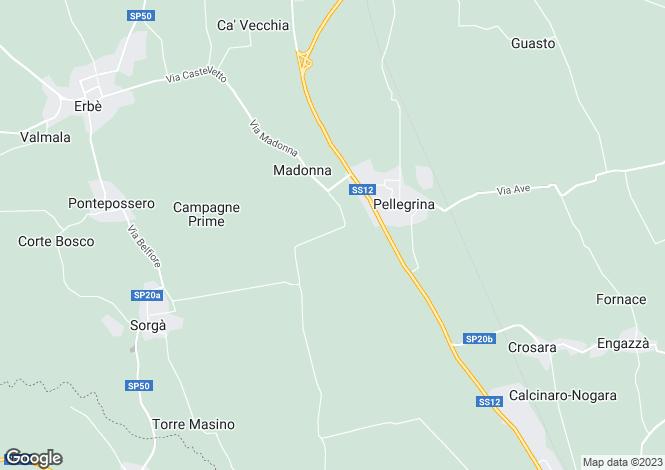 Map for Villafranca Di Verona, Verona, Veneto