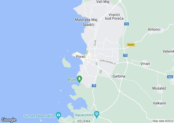 Map for Gedici, Porec, Istria, Croatia