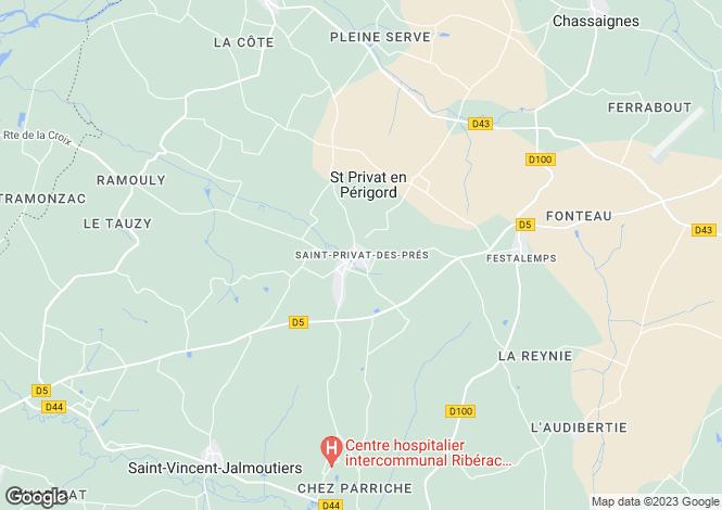 Map for Secteur: Saint Privat des Pres, Dordogne
