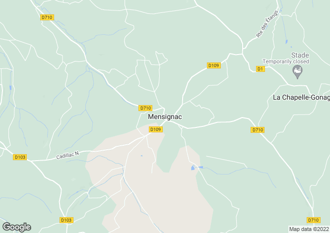 Map for Secteur: Mensignac, Dordogne