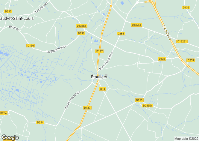Map for etauliers, Gironde, France