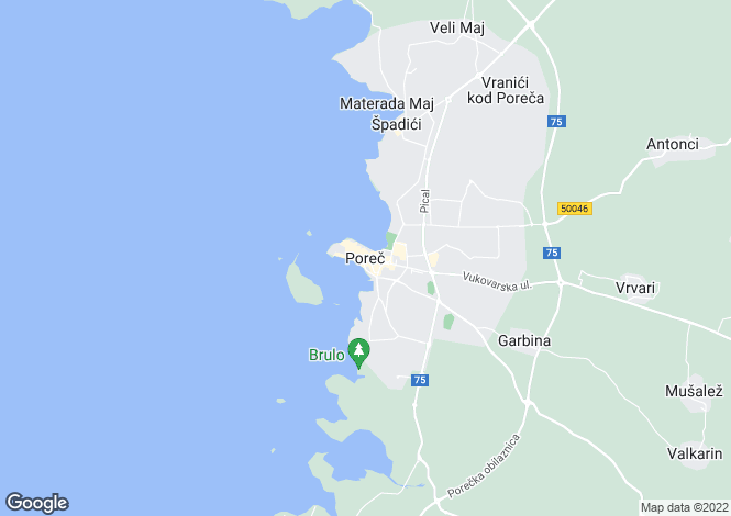Map for Luxury Villas, Porec, Istria