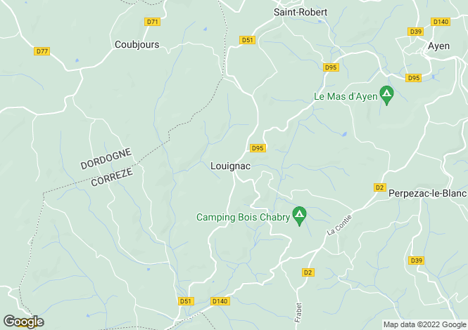 Map for louignac, Corrèze, France